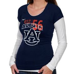 3bdccbc1a8ab Ladies Apparel, Ladies Clothing, Merchandise. Nike Auburn Tigers Ladies  Sunny Day Cross Campus Long Sleeve T-Shirt ...