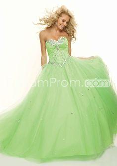 2014 Style Ball Gown Sweetheart Beading Sleeveless Floor-length Tulle Prom Dresses / Evening Dresses