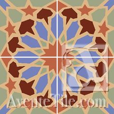 Classic Alhambra - A 8 x 8 Handmade Cement Tile