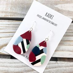 Liquorice allsorts earrings with 925 sterling silver hooks  #kaori #handmade #madeit #jewellery #jewlry #polymerclay #handcrafted #accessories #shoplocal #etsy #madeit #shopmadeit #madeinaustralia #shopsmall #maker #madeit #craft #fimo #sculpey #earrings #sterlingsilver #sterlingsilverjewellery #dangleearrings #polymerclayearrings #polymerclayjewellery