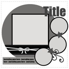 Free Printable Scrapbook Layout Templates | Day in the Life