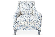 onekingslane.com Yves Chair, Ivory/Navy $1,699.00 $3,000.00 Retail  Estimated arrival date: Jul 23 - Jul 28
