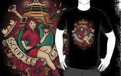 'Remember me.' Awesome retro/pin-up style shirt showcasing this seasons hottest new character! Soufflé Girl lives on with this t-shirt! Pin Up Style, My Style, Retro Pin Up, Make A Man, Girls Life, Doctor Who, Shirt Style, Shirt Designs, Classic T Shirts