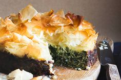 Silverbeet filo pie recipe, Bite – visit Eat Well for New Zealand recipes using local ingredients - Eat Well (formerly Bite) Vegan Vegetarian, Vegetarian Recipes, Pie Recipes, Cooking Recipes, Springform Cake Tin, Filo Pastry, Savoury Dishes, Savoury Recipes, Savory Tart