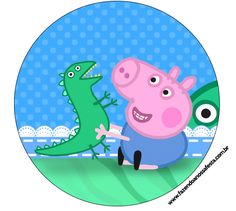 George Pig Peppa Personalised Wafer Paper Topper For Large Cake Various Size Pig Birthday Cakes, 3rd Birthday Parties, Boy Birthday, Peppa Pig Printables, Dinosaur Printables, Peppa Pig Stickers, George Pig Party, Aniversario Peppa Pig, Cumple Peppa Pig