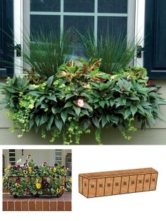 """Product image for 44"""" Side Planting Window Box & Liner"""