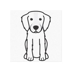 Irish Red and White Setter Dog Cartoon Stretched Canvas Prints