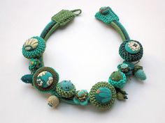 Turquoise green handmade necklace