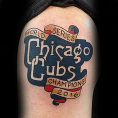 Chicago Cubs tattoo
