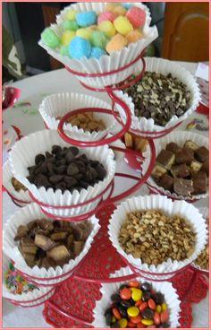 Welcome to A Musing Potpourri's Ice Cream Social! Today is National Ice Cream Day; what better occasion for my first link p. Ice Cream Toppings, Ice Cream Recipes, Sundae Toppings, Graduation Party Foods, Pot Pourri, Sundae Bar, Waffle Bar, Ice Cream Day, Cupcake Cases