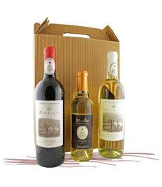 """Confezione Mausolea: composta dai vini di Camaldoli della Cantina """"La Mausolea"""". Borbotto Rosso, Borbotto Bianco e Musileo (vendemmia tardiva)."""