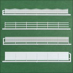 20 Piece HO Scale Fencing Assortment, 4 Styles