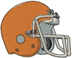 Football Helmet by Machine Embroidery Designs