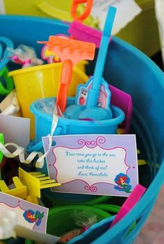 Under the Sea Birthday Party | Little Mermaid Birthday Party | Girl's Birthday Ideas | Beach Toy Bucket Favor