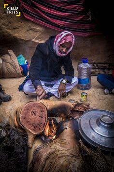 Bedouin Cooking Tea - Bedouin camp in Wadi Zalaga, South Sinai, Egypt