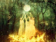 Winter Solstice Image courtesy LisbethCheever-Gessaman | SheWhoIs.com Four Archangels, Arte Latina, Ritual Magic, Hidden Images, Classical Elements, Sacred Feminine, Magic Art, Winter Solstice, Yule