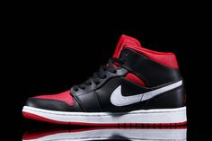 """The Air Jordan 1 Mid receives another colorway that hits closer to home for Chicago Bulls fans. Given the moniker """"Bred"""" — like other models of the Jordanlineage — due to its black and red canvas/..."""