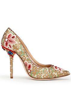 Indian Wedding Mosaic Inspired Dolce & Gabbana Shoes via IndianWeddingSite. Dolce & Gabbana, Women's Shoes, Me Too Shoes, Shoe Boots, Jimmy Choo, Christian Louboutin, Pretty Shoes, Beautiful Shoes, Beautiful Life