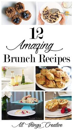 12 of the best brunch recipes from the All Things Creative Team. Perfect for a breakfast pot luck, brunch get together or just at home on a Saturday morning. Best Brunch Recipes, Breakfast Recipes, Favorite Recipes, Breakfast Ideas, Pinterest Recipes, Pinterest Food, Easy Summer Meals, Everyday Dishes, Caramel Recipes