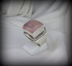 Rose Quartz Ring #jewelry