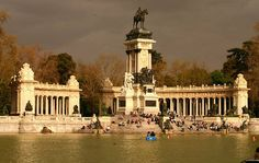 Monument of Alfonso XII, Retiro, Madrid before the storm, via Flickr.