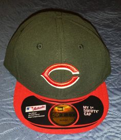 619ad5b8fac New Era Cincinnati Reds Infant Fitted Hat Cap My Kids Youth Baseball