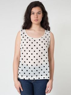 dad0dcb29796d AMERICAN APPAREL  rsacf304pd - Polka Dot Chiffon Tank Buy Now  36.0 Find at  Faearch