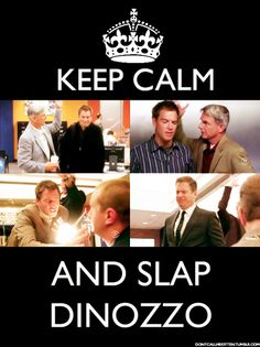 Keep Calm & Slap DiNozzo - NCIS, this show has quickly turned into my favorite crime show