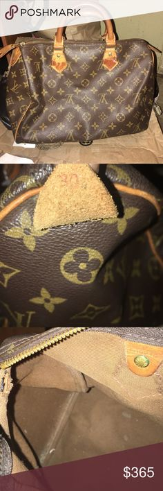 Authentic Louis Vuitton speedy 30 Only hole is the one you see on the  inside the fa2ece53abe44