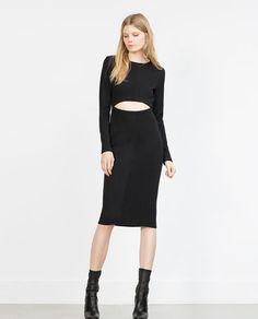 Image 1 of OTTOMAN RIB DRESS from Zara