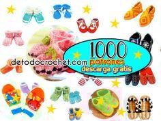 Revista con 1000 patrones de patucos y guantes crochet
