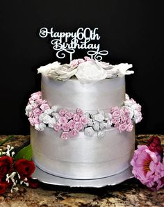 Happy 60th Birthday cake topper. Wood Cake Topper. Happy Birthday Cake topper. Birthday Cake Topper with Age. Custom Birthday Cake Topper.