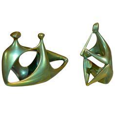 Iridescent Zsolnay Ceramic Sculpture of a Flute Player in Eosine Glaze Ceramic Sculpture Figurative, Figurative Art, Ceramic Figures, Ceramic Artists, Modern Sculpture, Sculpture Clay, Ceramic Pottery, Pottery Art, Sculptures For Sale