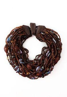 Monies UNIQUE Pearl & Mahogany Necklace   Santa Fe Dry Goods