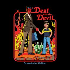 Deal with the Devil Accessories Sticker by Steven Rhodes Coven, Devil Aesthetic, Deal With The Devil, Bizarre Art, Arte Pop, Humor, Dark Art, Cool Pictures, Creepy