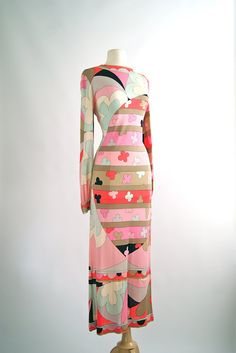 Vintage 1960s Emilio Pucci Silk Jersey Gown by xtabayvintage