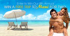 Win a trip to Maui on Honolulu Publishing Company - Free Trip to Maui Sweepstakes