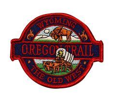 Oregon Trail Wyoming Travel Souvenir New Badge Applique Patch | eBay