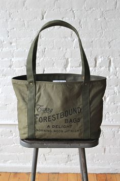 df7e0195c8bc Forestbound Salvaged Canvas Logo Tote Canvas Designs
