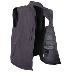 Men's Black Concealed Carry Waterproof Soft Shell Vest