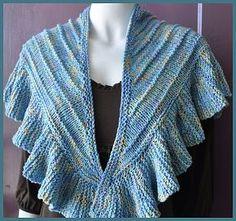 Cotton Twirl Ruffled Shawl - soft ruffles trimmed shawl - Crystal Palace Yarns