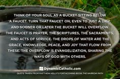 Bucket. Faucet. Grace