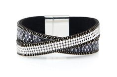 Adder Faux Suede Wrap Bracelet