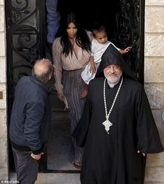 Yeezus arrives in Holy Land with wife Kim Kardashian and North #dailymail