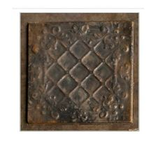 """Vintage Style Antique EMBOSSED TILES~S/4~Ceiling or Wall Tiles~12"""" x 12""""~Black"""