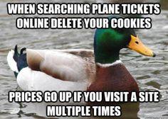 Cheaper plane tickets