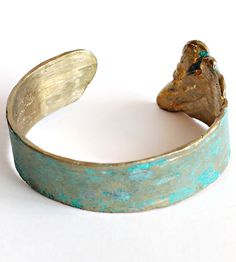 Patina Birch Brass Cuff |
