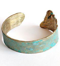 Patina'd brass cuff