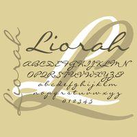 liorah handwritten font