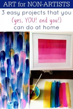 3 easy diy art projects that you can do at home via Remodelaholic . Simple Wall Art, Diy Wall Art, Easy Wall, Wall Decor, Room Decor, Diy Artwork, Easy Art Projects, Crafts To Do, Decor Crafts
